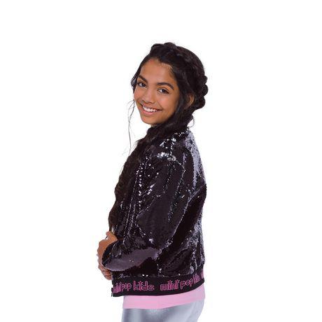 Girls Mini Pop Kids Black Shine Jacket - image 3 of 8
