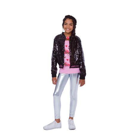 Girls Mini Pop Kids Black Shine Jacket - image 1 of 8