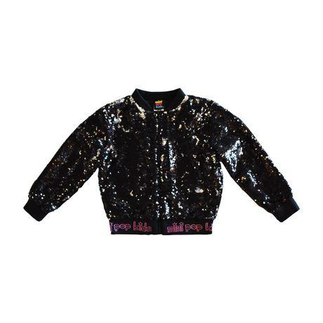 Girls Mini Pop Kids Black Shine Jacket - image 6 of 8