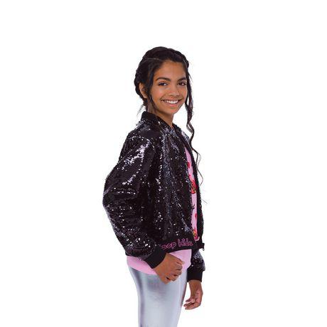 Girls Mini Pop Kids Black Shine Jacket - image 2 of 8