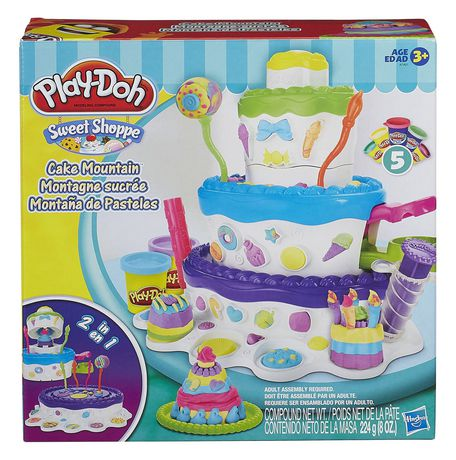 Awe Inspiring Play Doh Sweet Shoppe Cake Mountain Playset Walmart Canada Personalised Birthday Cards Veneteletsinfo