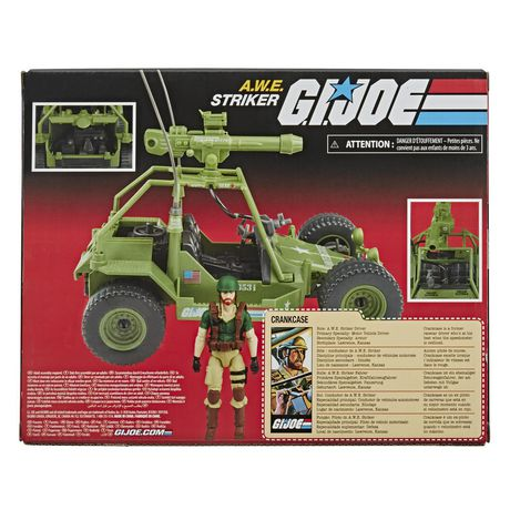 G.I. Joe Retro Collection A.W.E. Striker Toy Vehicle with 3.75-Inch-Scale Collectible Crankcase Action Figure, Toys for Kids Ages 4 and Up - image 3 of 6