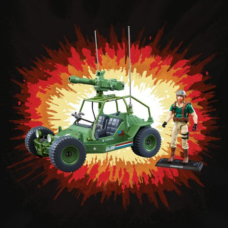 G.I. Joe Retro Collection A.W.E. Striker Toy Vehicle with 3.75-Inch-Scale Collectible Crankcase Action Figure, Toys for Kids Ages 4 and Up - image 4 of 6