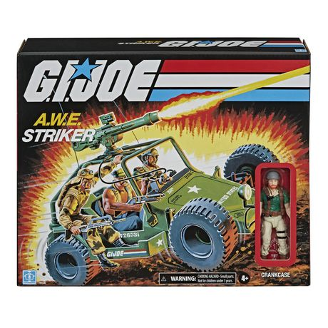 G.I. Joe Retro Collection A.W.E. Striker Toy Vehicle with 3.75-Inch-Scale Collectible Crankcase Action Figure, Toys for Kids Ages 4 and Up - image 1 of 6