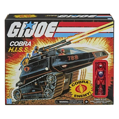 G.I. Joe Retro Collection Cobra H.I.S.S. Toy Vehicle with 3.75-Inch-Scale Cobra H.I.S.S. Driver Action Figure, Toys for Kids Ages 4 and Up - image 1 of 6