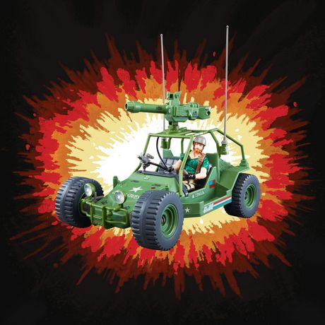 G.I. Joe Retro Collection A.W.E. Striker Toy Vehicle with 3.75-Inch-Scale Collectible Crankcase Action Figure, Toys for Kids Ages 4 and Up - image 5 of 6