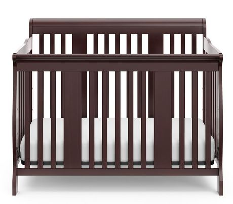 stork craft tuscany fixed side convertible crib espresso. Black Bedroom Furniture Sets. Home Design Ideas