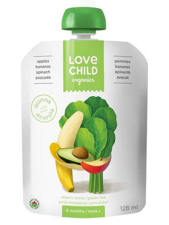 Love Child Organics Super Blends Puree - Pommes, Bananes, épinards Et Avocat - image 1 de 2