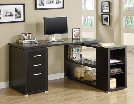 bureau en coin cappuccino hollow core de monarch walmart canada. Black Bedroom Furniture Sets. Home Design Ideas
