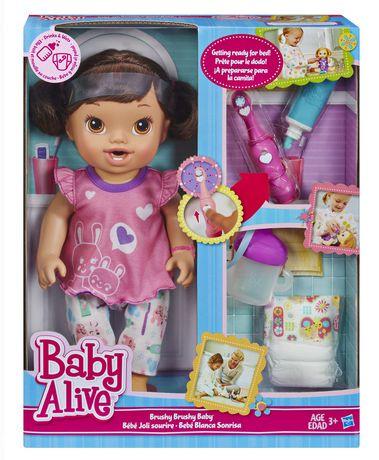 Baby Alive Brushy Brushy Doll Walmart Canada