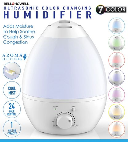 Bell Howell Ultrasonic Color Changing Humidifier Walmart
