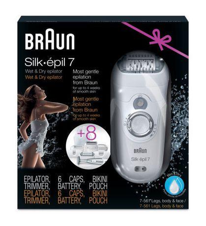 braun silk pil 7 561 wet dry cordless epilator trimmer. Black Bedroom Furniture Sets. Home Design Ideas