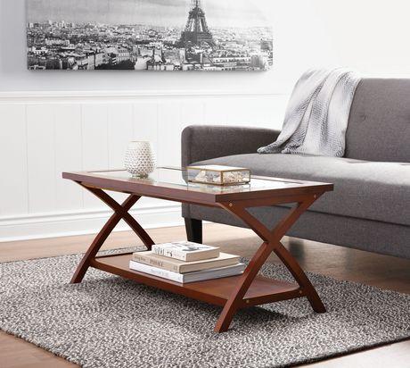 HomeTrends Glass Top Coffee Table Walmartca