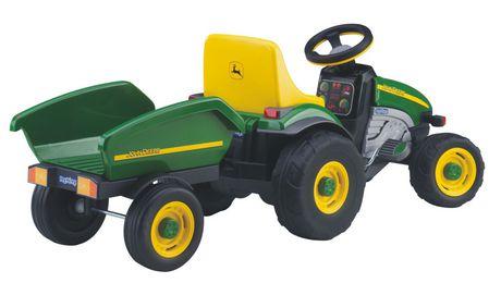 peg perego john deere farm tractor with trailer ride on