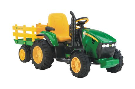 jouet v hicule porteur tracteur avec remorque john deere ground force de peg perego. Black Bedroom Furniture Sets. Home Design Ideas