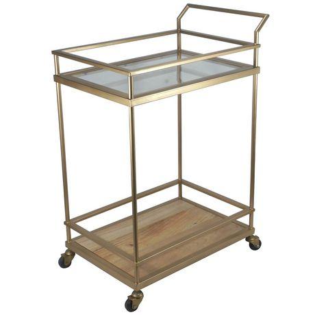 hometrends Gold Bar Cart - image 3 of 4