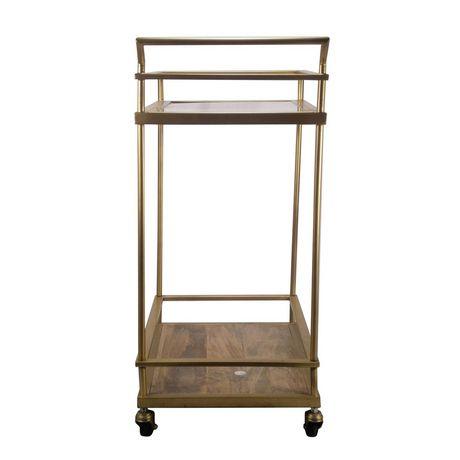 hometrends Gold Bar Cart - image 2 of 4
