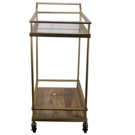 hometrends Gold Bar Cart - image 4 of 4