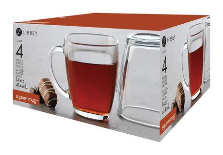 Mug En Café Square Libbey À Verre De Tasses nwvN80m