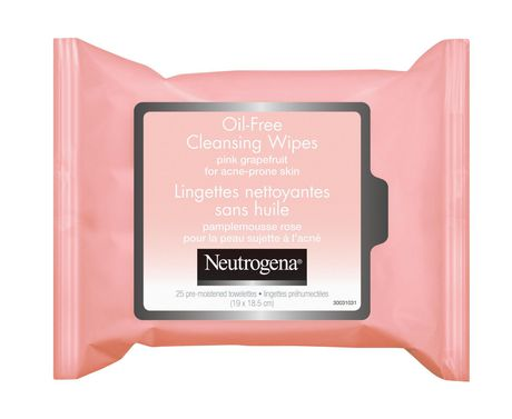NEUTROGENA® Oil-Free Pink Grapefruit Cleansing Wipes, 25 Count - image 1 of 1