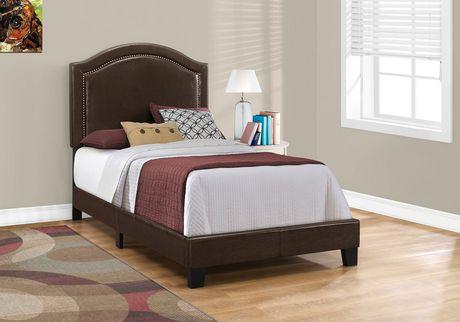 cadre de lit monarch specialties en marron walmart canada. Black Bedroom Furniture Sets. Home Design Ideas