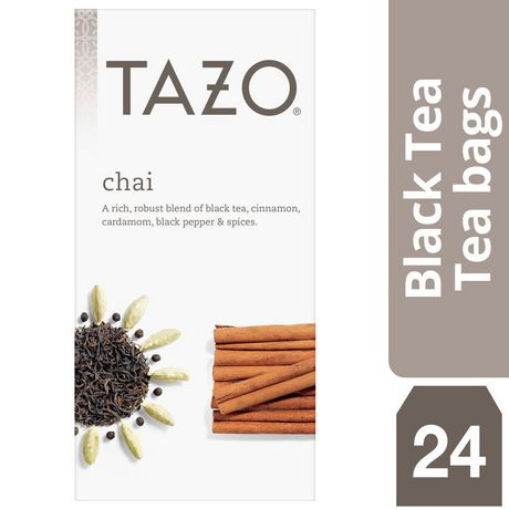 Box of 24 organic chai black tea bags from Tazo