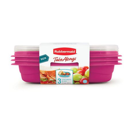Rubbermaid TakeAlongs Sandwich Food Storage Containers, 887 ML, 3 Count - image 2 of 5