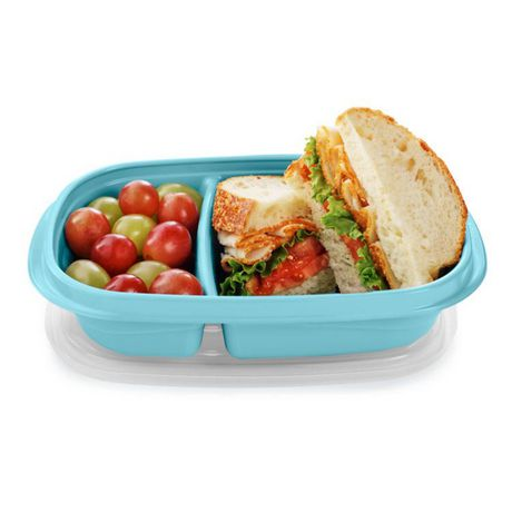 Rubbermaid TakeAlongs Sandwich Food Storage Containers, 887 ML, 3 Count - image 3 of 5
