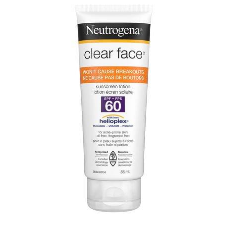 Neutrogena Clear Face Sunscreen Spf 60 88ml Walmart Canada