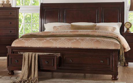Topline Home Furnishings New Cherry Queen Bed - image 1 of 2
