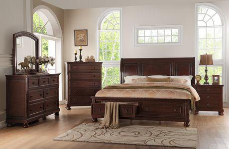 Topline Home Furnishings New Cherry Queen Bed - image 2 of 2