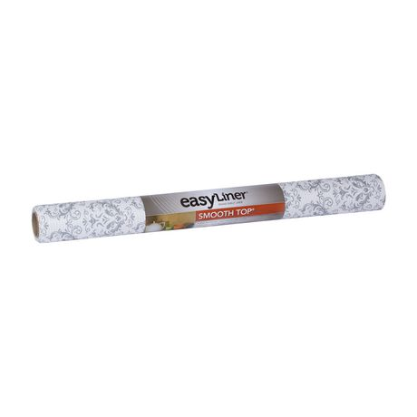 Duck Brand Smooth Top Easy Liner 174 Grey Damask 20 In X