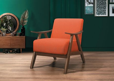 Topline Home Furnishings Orange Accent Chair