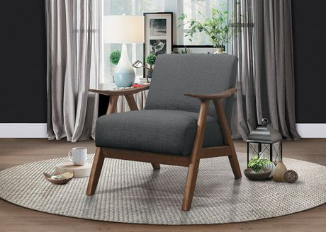 Topline Home Furnishings Grey Accent Chair