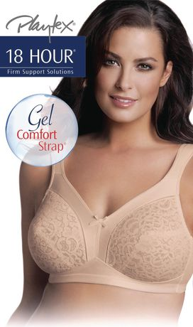 9fc928b8e Playtex 18 Hour Lace-Cup Wire-Free Bra - image 1 of 1 ...