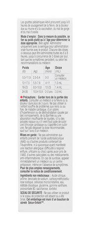 Advil Pediatric Drops Dye Free - Raisin 24ML - image 4 de 4