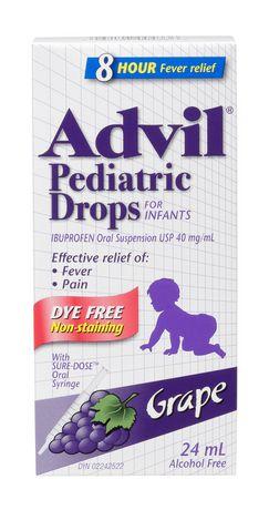 Advil Pediatric Drops Dye Free - Raisin 24ML - image 1 de 4
