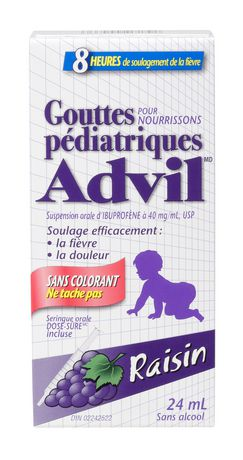 Advil Pediatric Drops Dye Free - Raisin 24ML - image 2 de 4