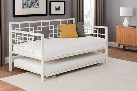 lit de jour avec lit gigogne m tal noir walmart canada. Black Bedroom Furniture Sets. Home Design Ideas