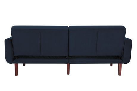 Nola Modern Futon, Grey Velvet - image 8 of 9