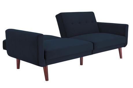Nola Modern Futon, Grey Velvet - image 3 of 9