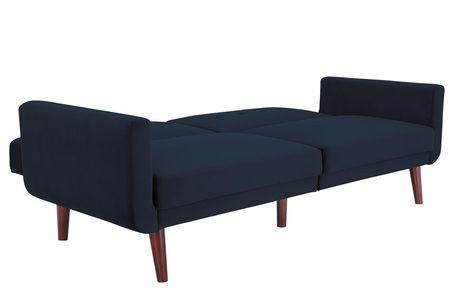 Nola Modern Futon, Grey Velvet - image 5 of 9