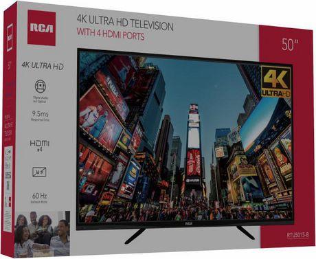RCA 50-INCH 4K Ultra HD TV, RTU5015