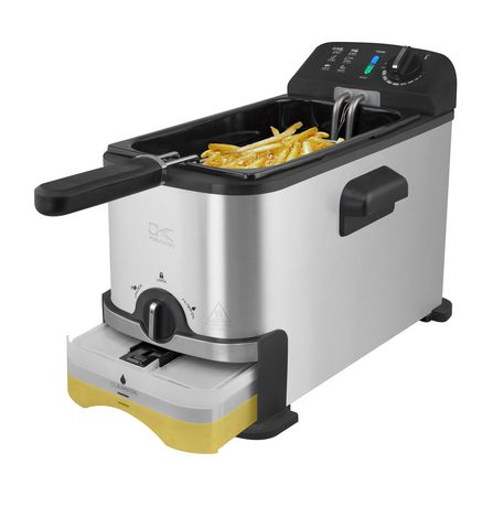 Kalorik 3.2 Quarts Deep Fryer with Oil Filtration System, Stainless Steel - image 5 of 6