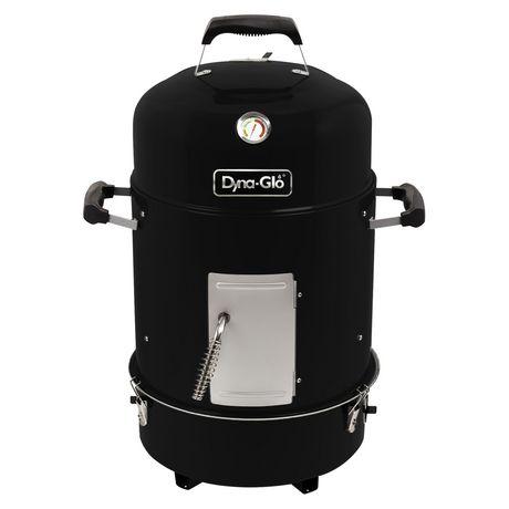 Dyna-Glo Compact Charcoal Bullet Smoker - High Gloss Black - image 1 of 9