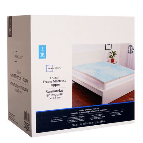 Mainstays 1 5 Quot Foam Mattress Topper Walmart Canada