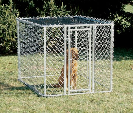 Midwest K9 Chain Link Portable Kennel With Sunscreen