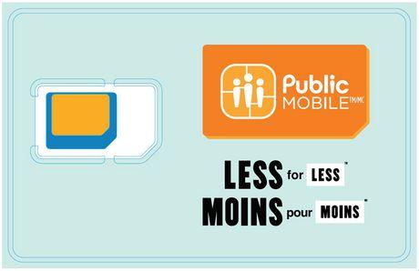 Public Mobile Carte SIM Triple Perforation - image 1 de 1