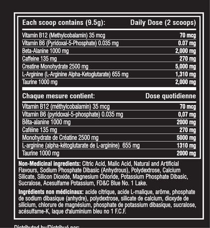 Cellucor C4 Sport Blue Raspberry Concentrated Energy & Performance Powder - image 2 of 2