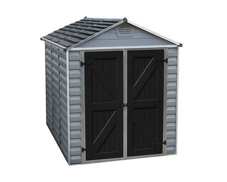 Palram 6 Ft. X 8 Ft. Skylight Storage Shed - Grey - image 9 of 9